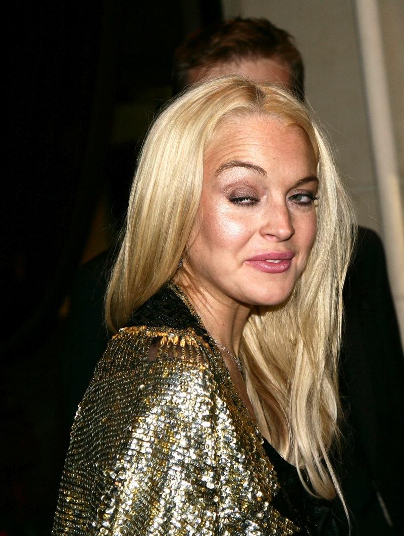 with Lindsay Lohan?